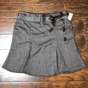 Chocolate brown stretchy skirt